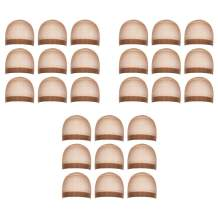Milano Collection Premium 27 Count Value Pack Nylon Wig Cap Stockings for Wigs and Frontals- Brown