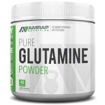 AMRAP Nutrition L-Glutamine Powder - Pure Micronized Free Form Glutamine Recovery Powder - Clinically Proven Recovery Aid for Men and Women - Safe for Regular Consumption - 200 Grams