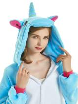 AHXYYI Unisex Adult Unicorn Onesie Pajamas One Piece Onsie Pijama Animal Costume