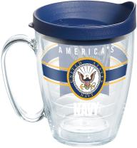 Tervis Navy Pride Tumbler with Wrap and Navy Lid 16oz Mug, Clear