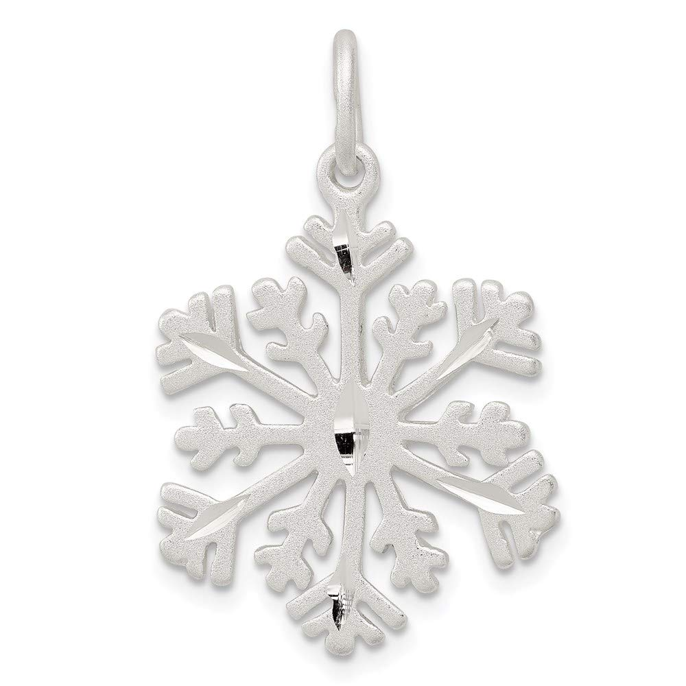 925 Sterling Silver Snowflake Pendant Charm Necklace Winter Fine Jewelry For Women Gifts For Her