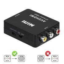 RCA to HDMI, AV to HDMI, 3RCA CVBS Composite Audio Video to 1080P HDMI Converter Adapter Supporting PAL/NTSC for PS3, TV, STB, VHS, VCR, PC, Laptop, Xbox, Camera, DVD Etc