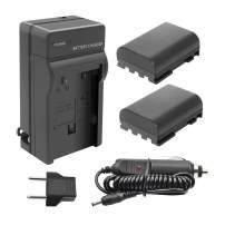 TURPOW NB-2LH NB-2L Battery Charger Set for Canon PowerShot G7 G9 S30 S40 S45 S50 S60 S70 S80 DC410 DC420 VIXIA HF R10 HF R100 HF R11 EOS 350D 400D Digital Rebel XT XTi [ 2 Pack, 1700mAh ]