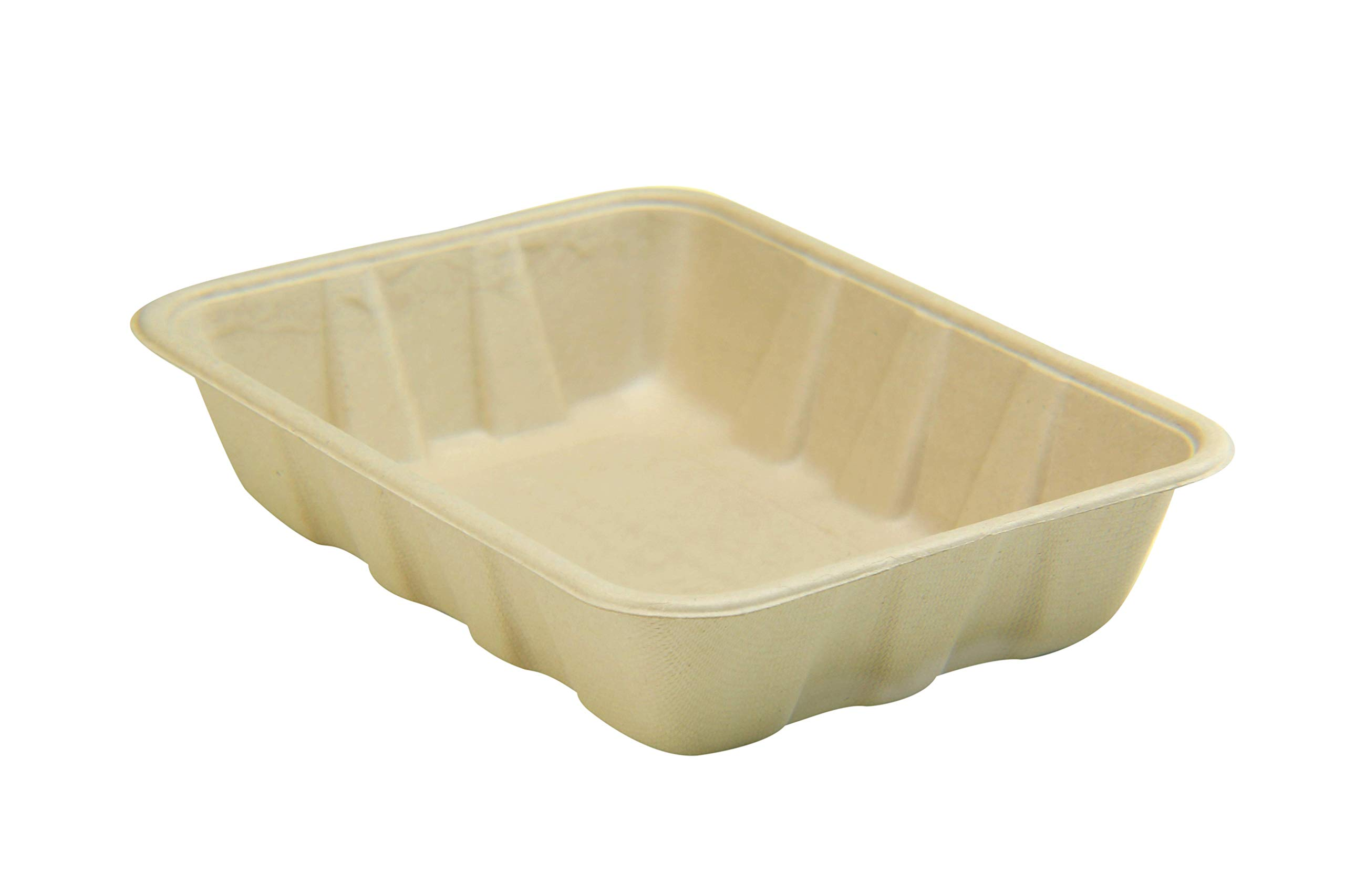 [400 COUNT] 32oz 32oz Compostable Eco Friendly Container Trays - Deep Containers made from Plant Fibers for Meal Prep Dinnerware Plates Catering Bento Boxes Takeout 100% by products