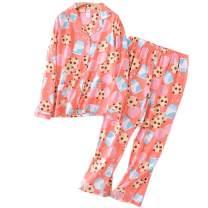 ENJOYNIGHT Women's Pajamas Set Cotton Button Down Long Sleeve Pjs Sets for Ladies Warm Soft Sleepwear