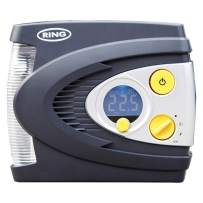 Ring RAC635 12V Preset Digital Air Compressor with LED Work and Safety Light, Inflates Fully deflated car tire in Under 3 Minutes