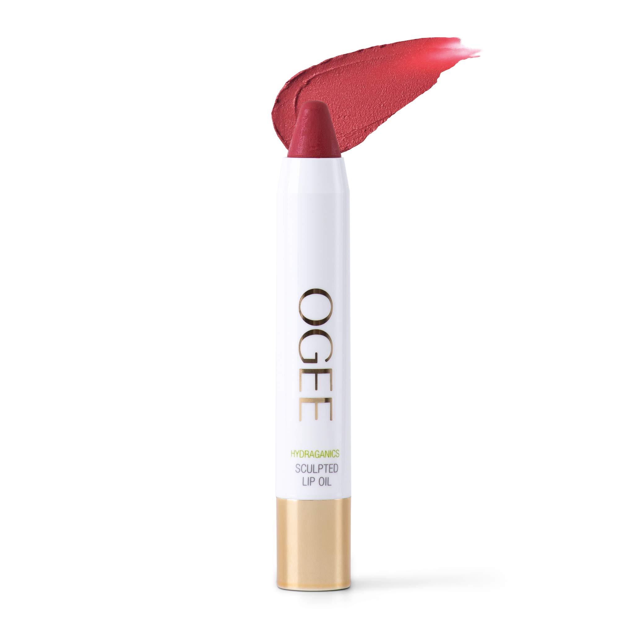 Ogee Tinted Sculpted Lip Oil - Made with 100% Organic Coconut Oil, Jojoba Oil, and Vitamin E - Best as Lip Balm, Lip Color or Lip Treatment - Zinnia