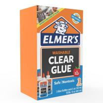 Elmer's Liquid School Glue, Clear, Washable, 5 Ounces, 3 Count - Great for Making Slime