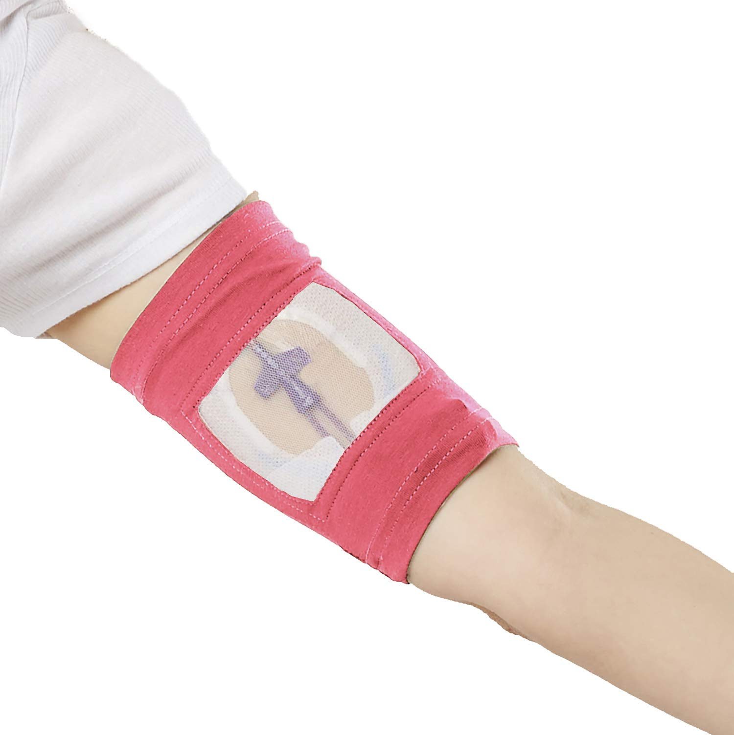 "Care+Wear Ultra-Soft Antimicrobial PICC Line Cover Fuchsia XL 17"" - 19"" Bicep"