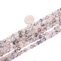 "JOE FOREMAN 14mm Black Crackle Agate Beads for Jewelry Making Natural Semi Precious Gemstone 14mm Round Strand 15"""