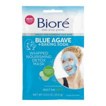 Bioré Blue Agave & Baking Soda Whipped Nourishing Detox Mask, 6 Pack, with Blue Agave for Deep Pore Cleansing, Dermatologist Tested, Non-Comedogenic, Oil Free
