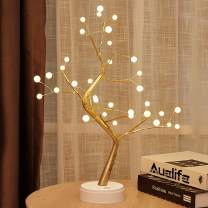 "20"" Tabletop Bonsai Tree Light with 36 Pearls LED, DIY Artificial Light Tree Lamp Decoration for Gift Home Wedding Festival Holiday (Battery/USB Operated)"