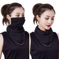 3pcs Floral Chiffon Face Shield Mask Earloop Respirator Scarf Bandana Sun Protection for Women Girls Outdoor Dust, Pollen