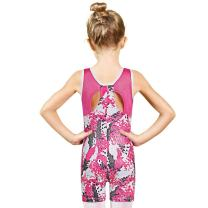 Girls Leotards for Gymnastics with Shorts Tank Biketards Sparkle Athletic Clothes
