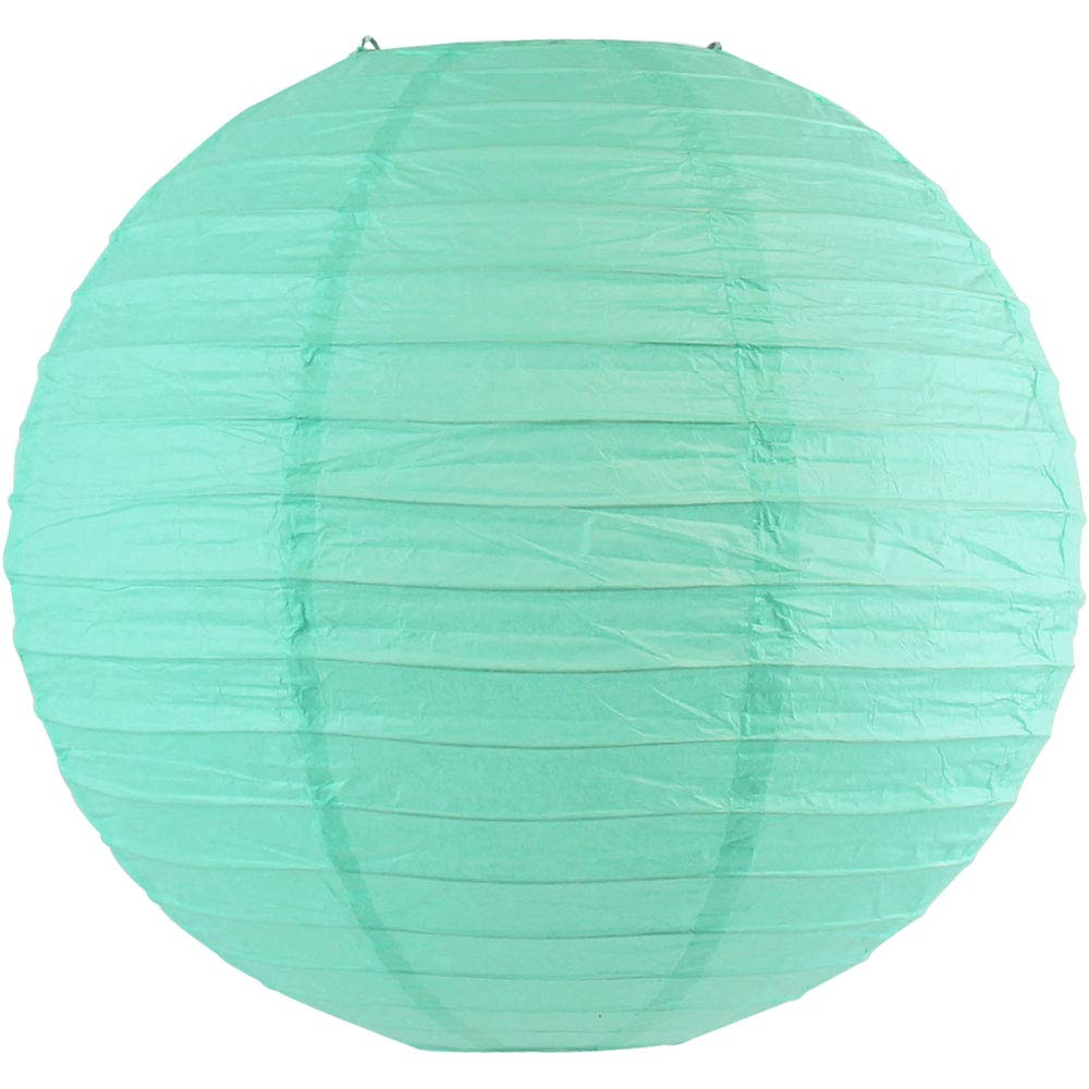 Just Artifacts 16-Inch Baby Blue Round Chinese Japanese Paper Lantern (1pc, Baby Blue)