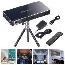 """Instahibit Mini Portable DLP Projector 3D HD 120"""" Display HDMI USB WiFi Bluetooth 8G Support 1080P Home Theater Camping"""