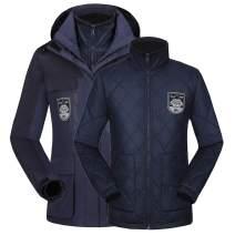 Sensfun Warm Ski Snow Hood Waterproof 3-1 Ski Windproof Plus Size Rain Jacket Women Men Outdoor Winter Jacket S-4X