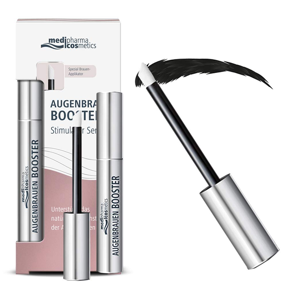 Medipharma Cosmetics Eyebrow Booster Serum - Serum Silicon Free & Paraben Free Natural Eyebrow Growth Enhancer - Best Eyebrow Serum for Longer, Thicker, Fuller and Healthier Brows
