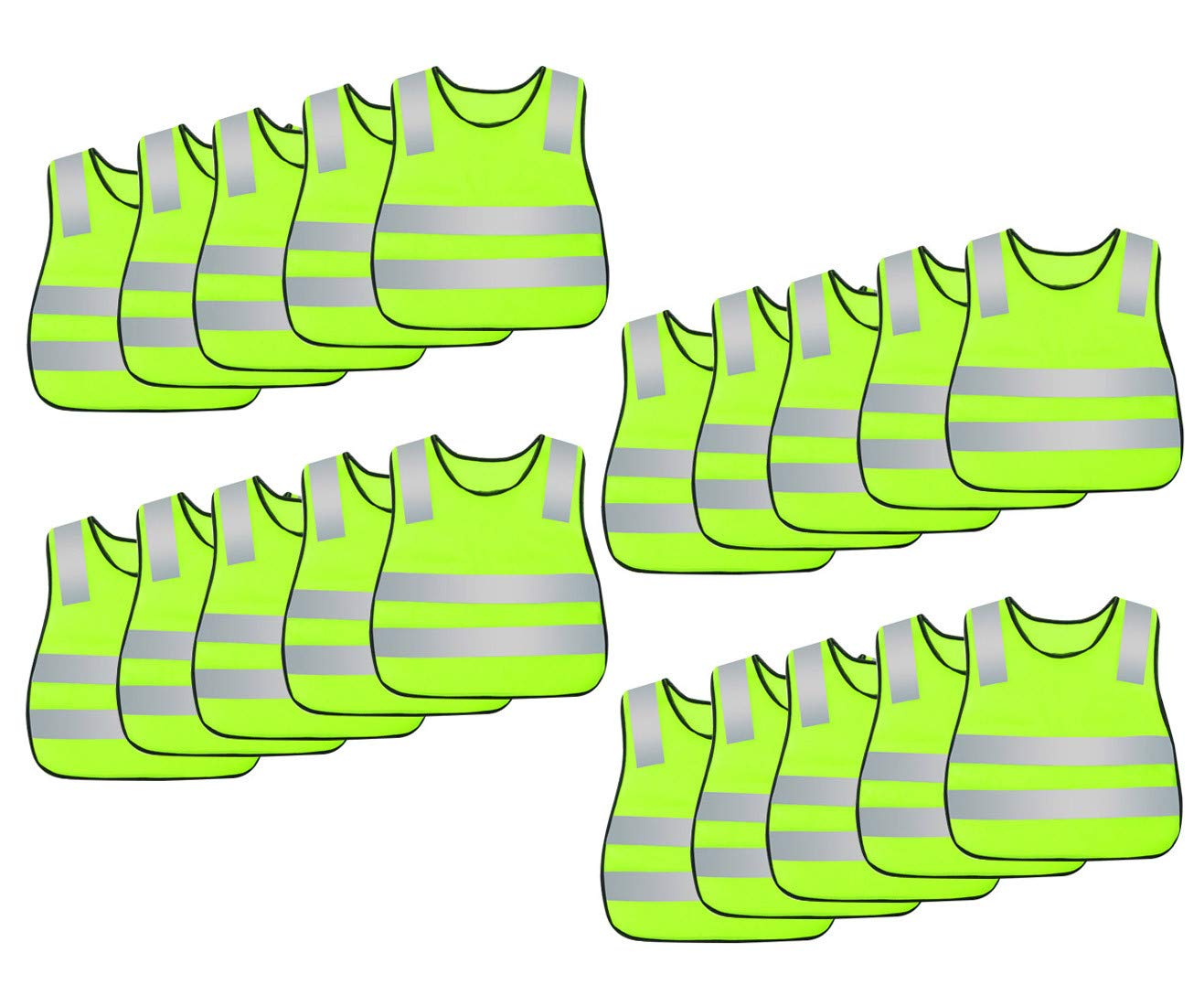AIEOE Kids High Visibility Safety Vest Reflective Waistcoat 5/10/15/20 Pack