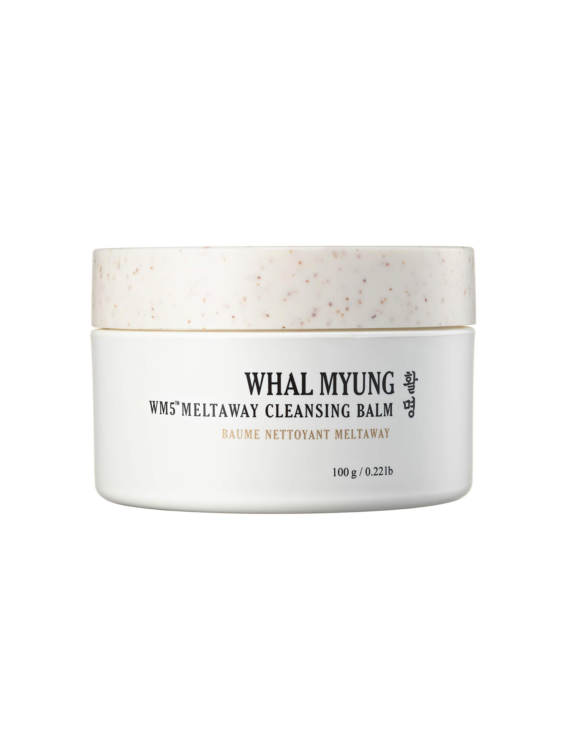 Whal Myung Meltaway Cleansing Balm, Makeup Remover for All Skin Type, Daily Korean Skin Care Clean Beauty, Natural Face Cleanser (0.22lb/100g)