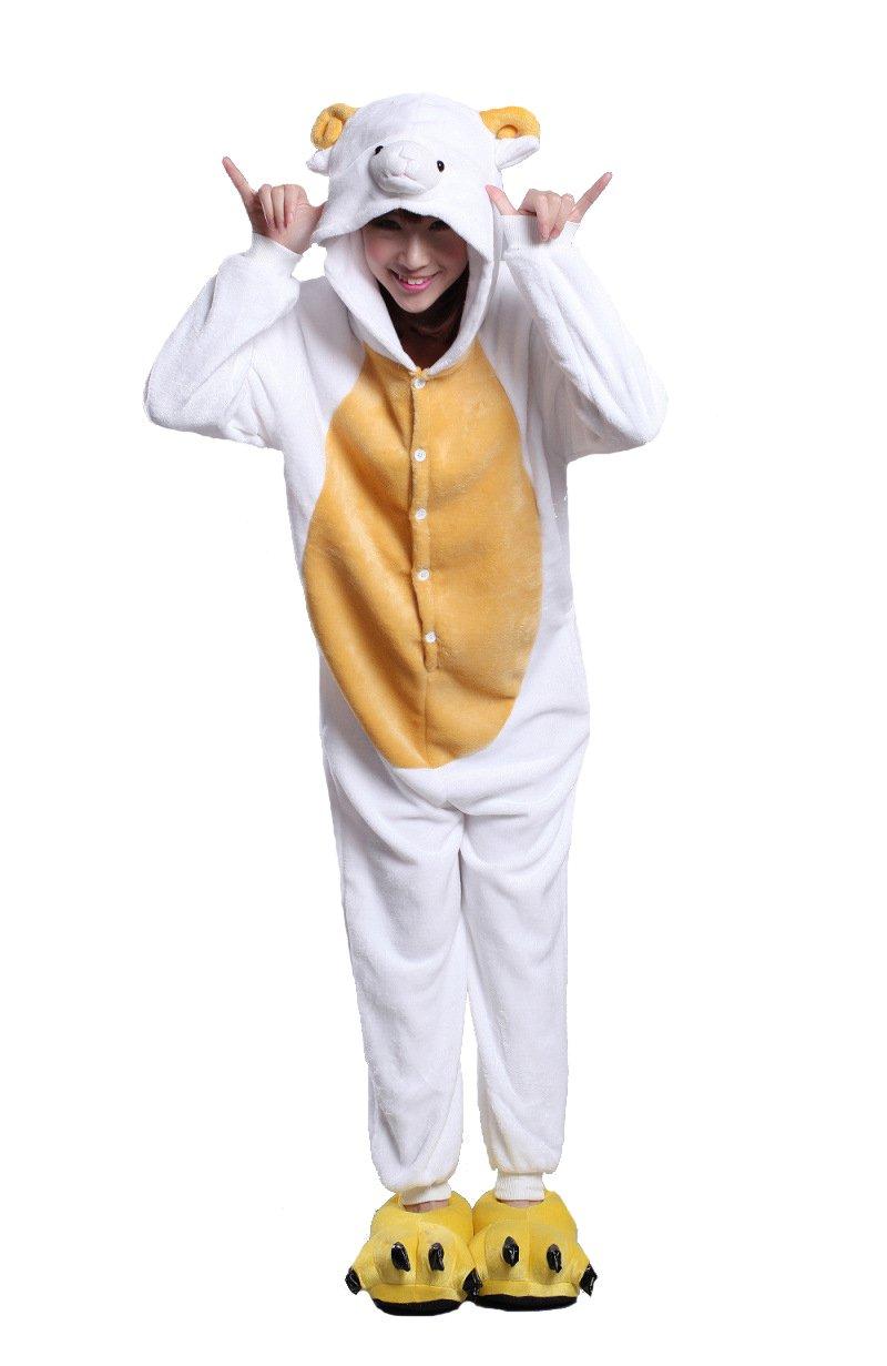 Honeystore Cosplay Halloween Romper Sheep Animal Costume Party Pajama One Piece