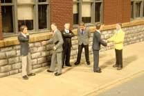 Bachmann Industries Miniature HO Scale Figures Businessmen Train (6 Piece)