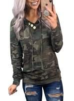 LOSRLY Womens Casual Hoodies Sweatshirt Long Sleeve Printed Drawstring Pullover Top with Kangroo Pocket