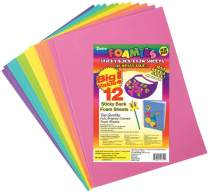 "Darice Foamies Adhesive Back Foam Sheets Multipack – Assorted Bright Colors – Great for Craft Projects with Kids, Classrooms, Camps, Scouts, Parties – 9"" x 12"" Per Sheet, 12 Sheets Per Pack"