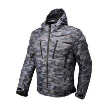 Motorcycle Camo Riding Jacket,All Seasons Waterproof Removable CE Armored Anti-impact Thermal Motorbike Jacket for Men (M)