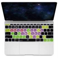 """HRH Ableton Live Hotkey Silicone Keyboard Cover Skin for MacBook New Pro 13"""" A1708 A1988 No Touch Bar 2018 2017 2016 Release and MacBook 12"""" A1534 (2015)&A1931(2018) USA Layout Protective Skin"""