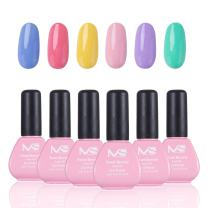 MelodySusie Gel Nail Polish Set - Sweet Reverie 6 Colors UV LED Gel Nail Kit 12ml Each Bottle, 1 Step Quick Curing Durable Nail Art Gift Box, No Base and Top Coat Needed, Easy Soak Off