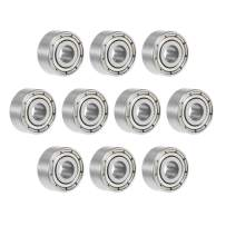 uxcell MR93ZZ Deep Groove Ball Bearing 3x9x4mm Double Shielded Chrome Steel Bearings 10-Pack