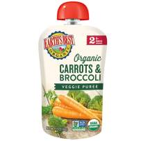 Earth's Best Organic Stage 2 Baby Food, Carrots and Broccoli, 3.5 oz. Pouch (Pack of 12)