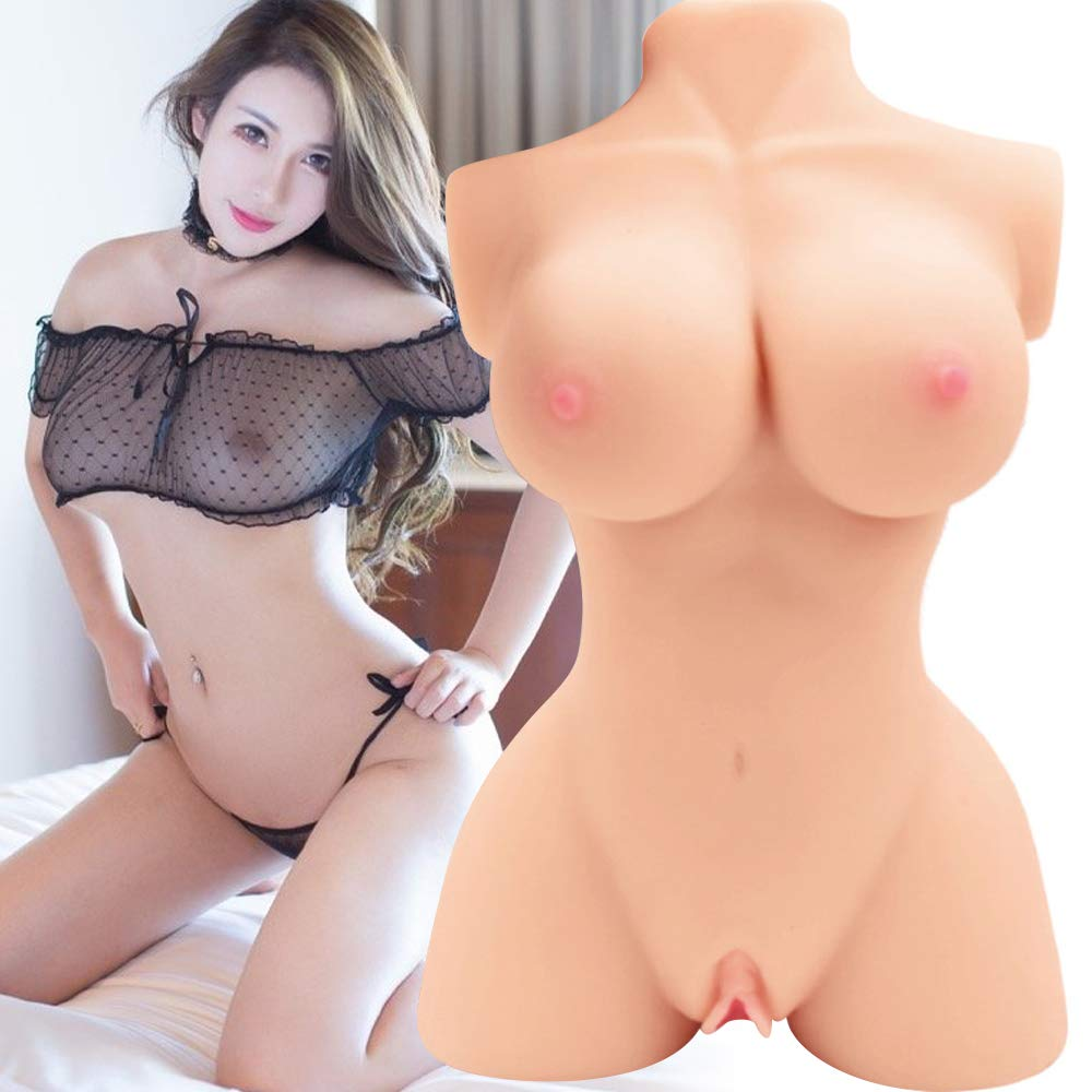 Lifesize Sex Doll Real Women Silicone Skeleton Torso for Men Masturbation Adult Sex Toys with Vagina Anal Butt Ass and Soft Booty Six Doll for Men Blow Up