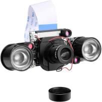 UNIROI for Raspberry Pi Camera Day & Night Vision, IR-Cut Video Camera 1080p HD Webcam 5MP OV5647 Sensor for Raspberry Pi RPi 4 3 B B+ 2B 3A+ 2 1 Camera