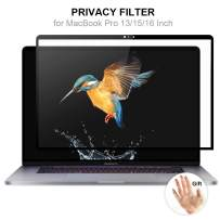 """Yogaber for MacBook Pro 16"""" Laptop Privacy Screen Filter, Laptop Glass Screen Protector, Office Products, Computer Privacy Screen, Removable Anti Spy/Blue Light Film [2019 New MacBook Pro 16 Inch]"""