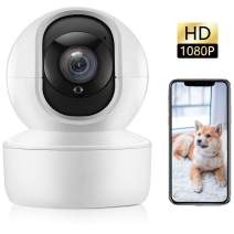 Wireless Security Camera, Indoor Camera 1080P HD, WiFi Pet IP Camera, Dome Baby Monitor with 2 Way Audio Night Vision Motion Detect for Home Dog Shop Office Surveillance