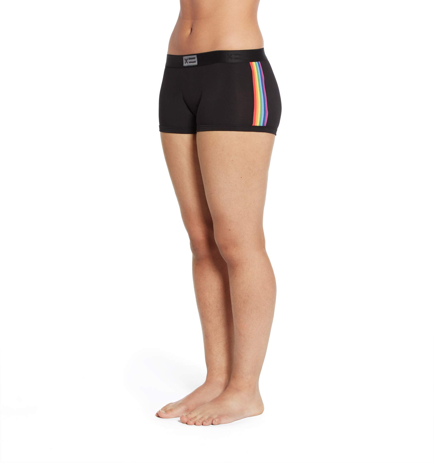 TomboyX Boy Shorts Underwear, Micromodal Stretchy and Soft All Day Comfort (XS to 4X)
