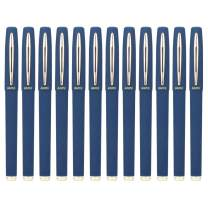 Baoke Gel Ink Pens Rollerball Pens 1.0mm Medium Line, Box of 12 Pack, PC1848 (blue)