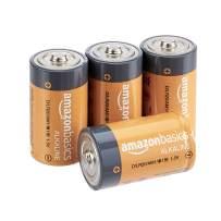 AmazonBasics D Cell 1.5 Volt Everyday Alkaline Batteries - Pack of 4