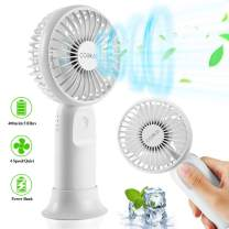Portable Handheld Fan, 2020 Upgraded USB Desk Fan with 4 Speeds and 4000mAh Rechargeable Battery, 6-31 Hours Working Time, Quiet Operation, Mini Personal Fan for Office Home Outdoor Travel