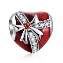 DALARAN 925 Sterling Silver Charm for Pandora Charms Bracelets Bowknot Heart Tree Candy Charm Valentine Gift Beads for Women Girls