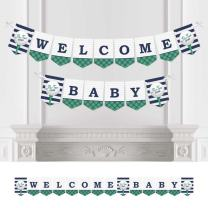 Big Dot of Happiness Par-Tee Time - Golf - Baby Shower Bunting Banner - Golf Party Decorations - Welcome Baby