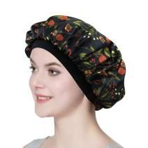 Satin Nightcap for Sleeping Women Classic Silk Bonnet with Soft Elastic