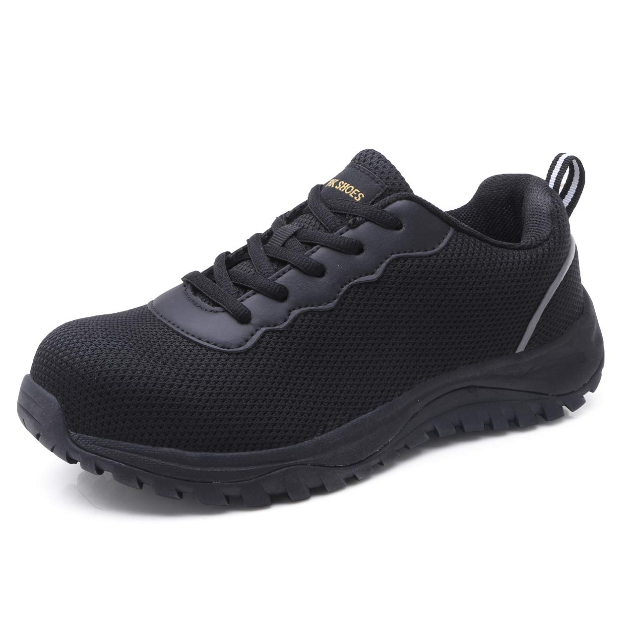 aeepd Steel Toe Shoes Men, Safety Work Sneakers Reflective Strip Industrial & Construction Shoe
