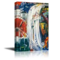 """wall26 - The Bewitched Mill by Franz Marc - Canvas Print Wall Art Famous Painting Reproduction - 12"""" x 18"""""""