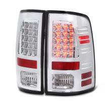 VIPMOTOZ Chrome Bezel Premium LED Tail Light Brake Lamp Housing Assembly Replacement For 2013-2018 RAM 1500 2500 3500 LED Model Driver & Passenger Side
