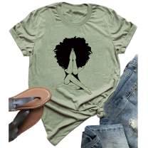 YourTops Women Melanin Graphic T-Shirt Afro Woman T-Shirt