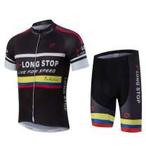 JPOJPO Men Cycling Jersey Set Short Sleeve MTB Bike Clothing Ropa Ciclismo Team Downhill Cycling Shorts Suit