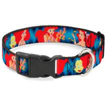 Buckle-Down Dog Collar Plastic Clip The Little Mermaid Under The Sea Scenes Available In Adjustable Sizes For Small Medium Large Dogs